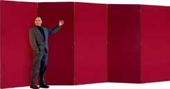Five Panel Folding Screen Room Divider