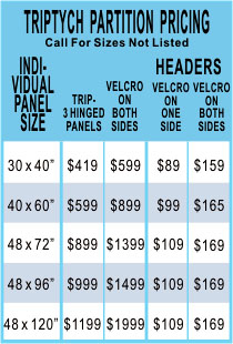 Triptych Room Divider Screens Pricing