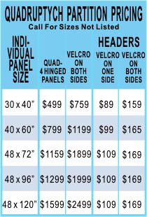 Room Divider Screens Pricing