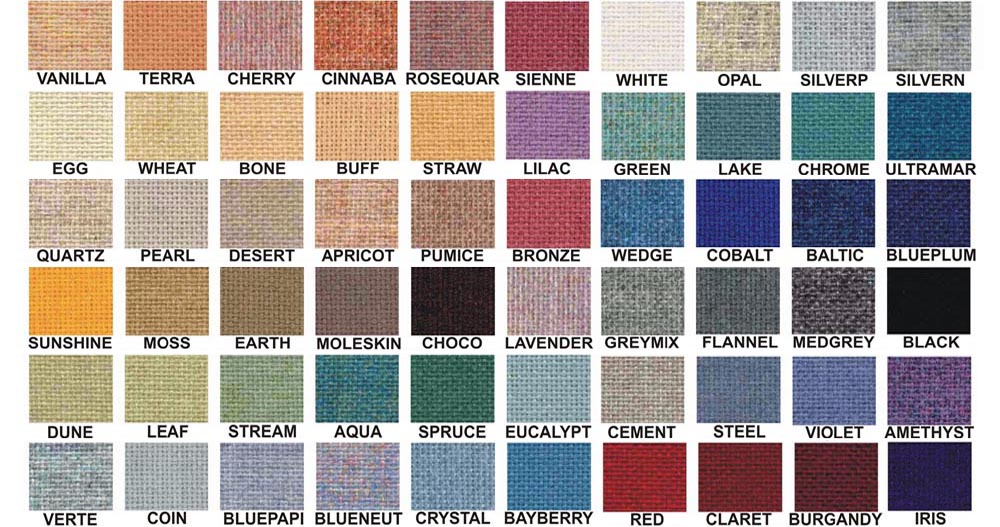 Burlap Fabric Color Swatches