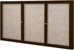 Charmant BULLETIN BOARD DISPLAY CASES COFFEE OR SLIVER TRIM