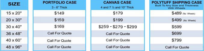 Carrying Case Pricing