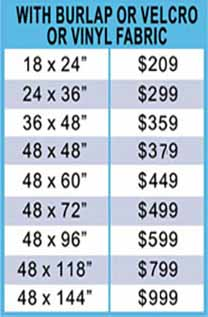 Velcro Bulletin Board Pricing
