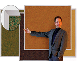 Frammed Colored Cork Board