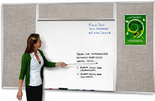 Fabric Corkboard & White Board