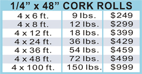 Cork Roll Pricing
