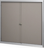 Bulletin Board Cabinet with sliding doors
