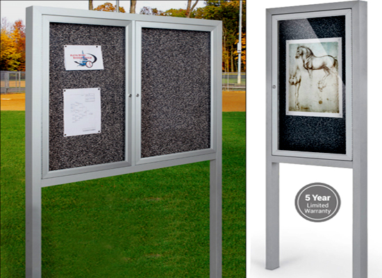 Outdoor Enclosed Bulletin Boards With Legs