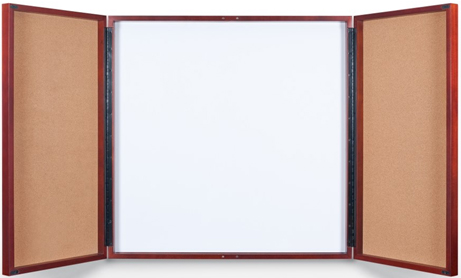 Bulletin Board Cabinets With Cork Board Amp Dry Erase Board