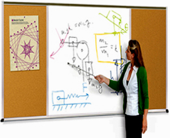 Combination White Boards and Cork Boards