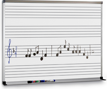 Dry Erase Music Marker Board