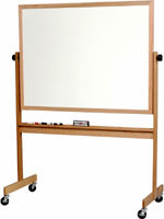 Rolling Oak Dry Erase Boards