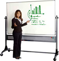Platinum Rolling Reversible White Marker Boards