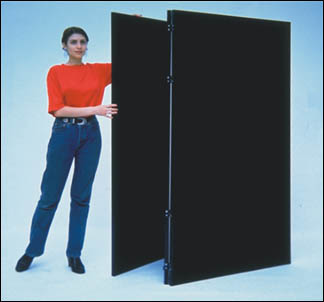 Folding Velcro room divider partition with 48x72 inch panel size