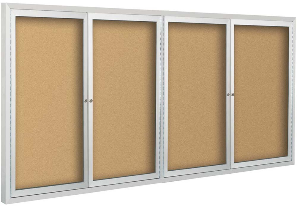 4 Door Bulletin Board Cabinet