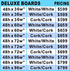 Deluxe Rolling Bulletin Boards Pricing