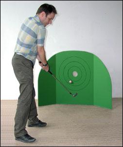 Par Three Golf Game With Velcro Fabric