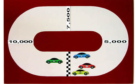 Race Track Flow Chart with Velcro Loop Fabric