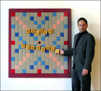 Velcro Scrabble board wall panel