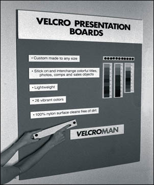 Presentation Display Boards With Velcro Fabric By North